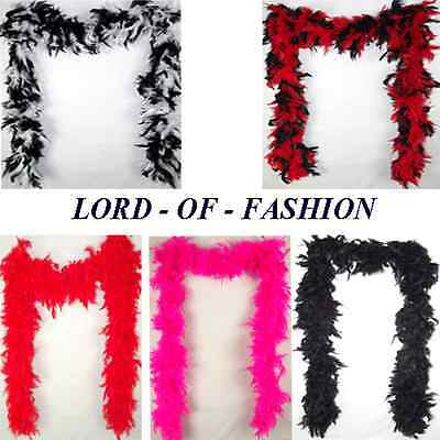 200cm BURLESQUE SOFT FEATHER BOA SHOWGIRL DANCE FANCY DRESS HEN NIGHT PARTY RED