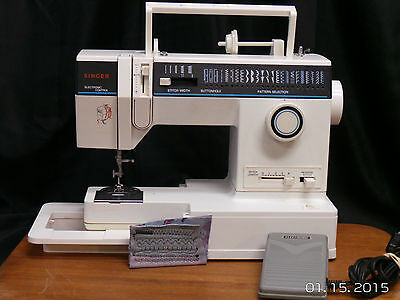Singer 4562 Heavy Duty Sewing Embroidery Machine Free Arm With Table