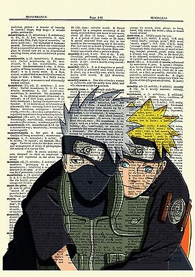Kakashi Naruto Ninja Anime Dictionary Art Print Poster Picture Japan Manga Book