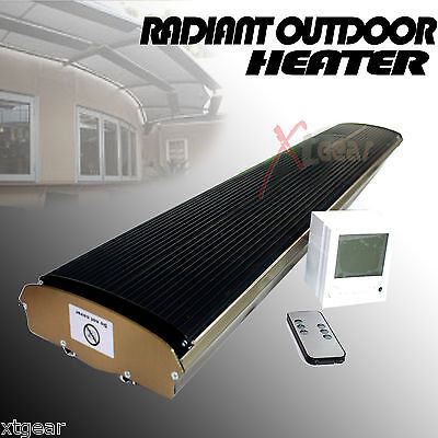 220V Radiant Outdoor Heater For Patio Ceiling Wall Mount Infrared Radiant