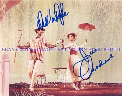 MARY POPPINS CAST AUTOGRAPHED 8x10 RP PHOTO JULIE ANDREWS AND DICK VAN DYKE