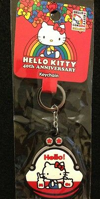Hello Kitty Con 2014 40th Anniversary Exclusive Coin Purse Keychain New NIP