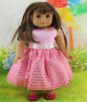 new Handmade pink dress clothes for 18 inch American Girl Doll b83