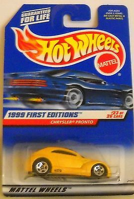 HOT WHEELS 1999 FIRST EDITIONS #23 OF 26 CARS CHRYSLER PRONTO COLLECTOR# 928