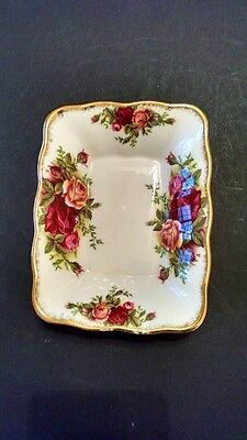 "Royal Albert ""Old Country Roses""  Rectangular Bone China Nut/Candy/Trinket Dish"