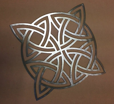 Metal Wall Art Silhouette Sculpture In/Outdoor Decor-Snow Flake & Celtic