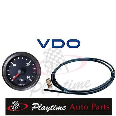 VDO 52mm 30 PSI BOOST GAUGE KIT TURBO SUPERCHARGED 4WD HOLDEN FORD TOYOTA NISSAN