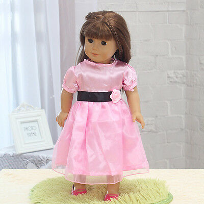 Hot Handmade lovely dress clothes for 18 inch American Girl Doll b95