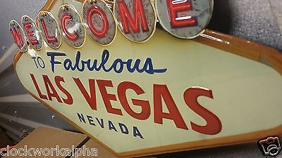 High gloss LAS VEGAS Sign NEVADA Gambling Poker Slot Machine Vintage Style Mobil