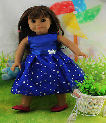 Hot New Design Handmade lovely dress clothes for 18 inch American Girl Doll b84