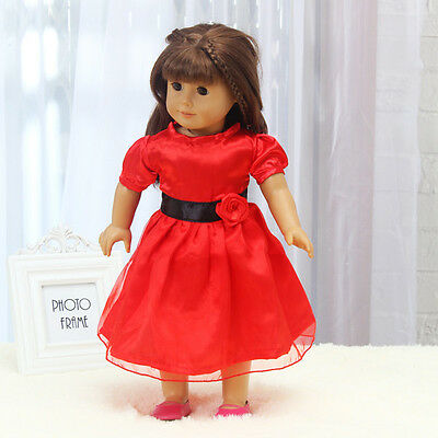 Hot Handmade lovely dress clothes for 18 inch American Girl Doll b97