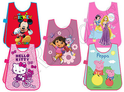 Disney Kids Apron Peppa Pig Tabard Waterproof Cooking Craft Painting School Art
