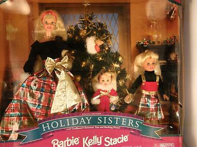 Holiday Sisters Barbie Dolls Kelly Stacie, SPECIAL EDITION, 1998 NRFB!!