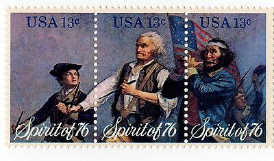 Spirit of 1776 Set of 3 Commemorative Stamps minted in 1976 Free Shipping