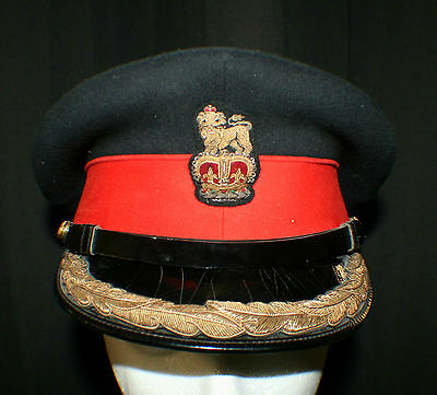 Canadian Army Senior Staff Officers Peaked Cap - Worn by Colonels and Brigadiers