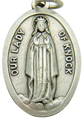 MRT Our Lady Of Knock Ireland Silver Plate Medal  Irish Gift Made In Italy 3/4""