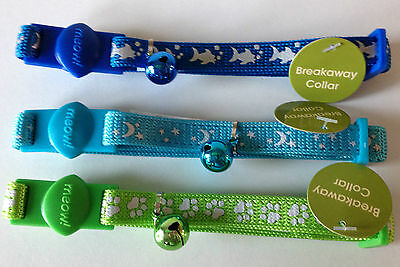 Reflective Cat Nylon Collar High Quality US Import Breakaway safety & Bell