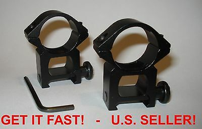 """1"""" INCH HIGH PROFILE QD SEE-THROUGH SCOPE MOUNTS RINGS"""