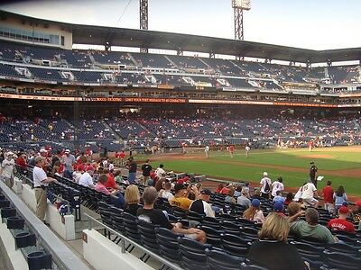 2 Or 4 Front Row Outfield Box Tickets Indians @ Pittsburgh Pirates 7/4