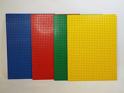 Lot Of 4 Colored 12.5 X 9 6/8 Lego Base Plates Red Blue Yellow Green