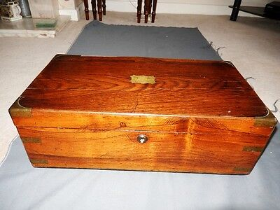 A 19th CENTURY VICTORIAN  ROSEWOOD  WRITING SLOPE-TO RESTORE