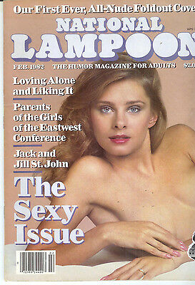 """National Lampoon Magazine February 1982 The Sexy Issue """"All-Nude"""" Cover"""