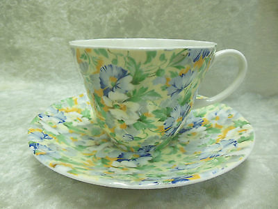 Vintage Queen's  English Chintz Tea Cup And Saucer Set