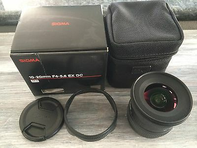 Sigma DC 10-20 mm F/4-5.6 HSM EX IF ASP DC Lens For Canon