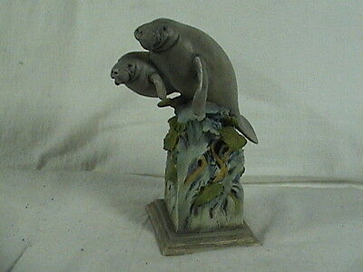 Mill Creek Studios MCSI Manatee Figurine, Water Logged, # 38370, Signed