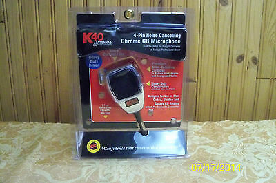 K-40 NOISE CANCELLING MICROPHONE   ! CHROME ! NICE !