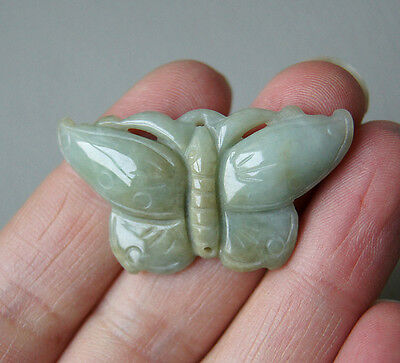 100% natural jade carving of the butterfly pendant necklace