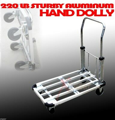 "28"" 220Lb Aluminum Flat Moving Sturdy Extendible Compact Hand Cart Truck Dolly"