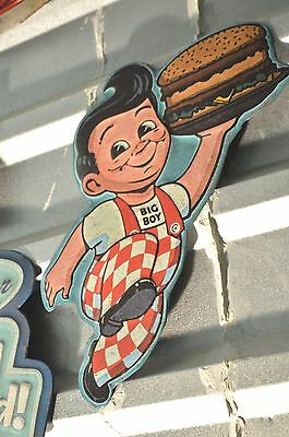 Embossed BOB'S BIG BOY Drive In Restaurant SIGN Diner Vintage Style Mobil Coke