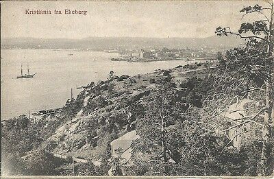 Rare Early Postcard, Norway, Kristiania fra Ekeberg