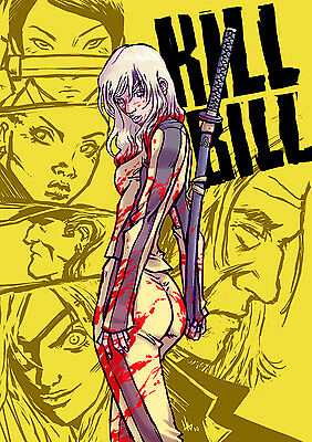 KILL BILL CLASSIC CULT MOVIE FILM PICTURE KBC01 Giant WALL Poster A1,A2,A3,A4