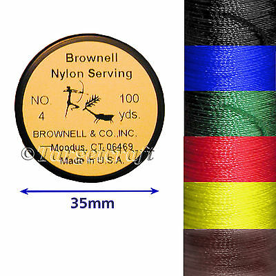 Bow string serving Brownell No 4 Soft Twist nylon 100yd spool