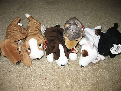 Another Box of 6 Dogs Ty Beanie Babies