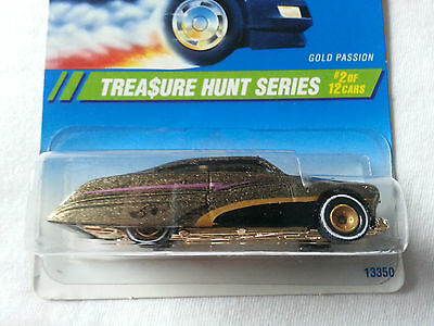 Hot Wheels 1995 Treasure Hunt Series #2 of 12 Gold Purple Passion Real Riders