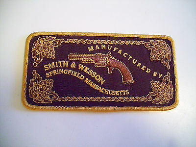 BEAUTIFUL EMBROIDERED   SMITH & WESSON  LOGO PATCH