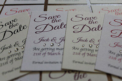 50 cards Personalised Magnetic Wedding Save the Date Card with envelope