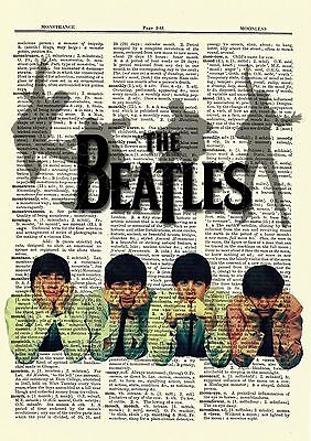 The Beatles Dictionary Art Print Book Page Picture Poster Rock Paul McCartney