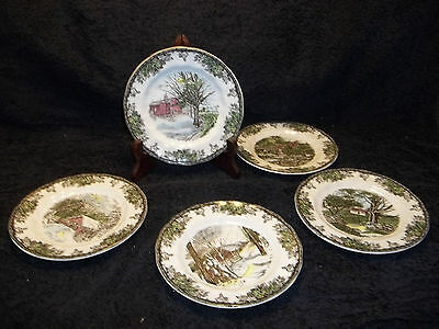 5 Johnson Brothers Made in England The Friendly Village Bread Butter Plates
