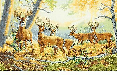 Summer's End Deer in Forest 70-35320 Dimension Gold Counted Cross Stitch Kit