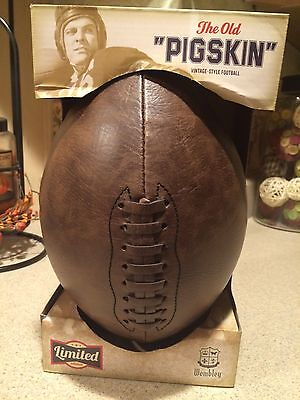 """Wembley """" The Old Pigskin"""" Vintage Style Football Limited Edition New In Box !!"""