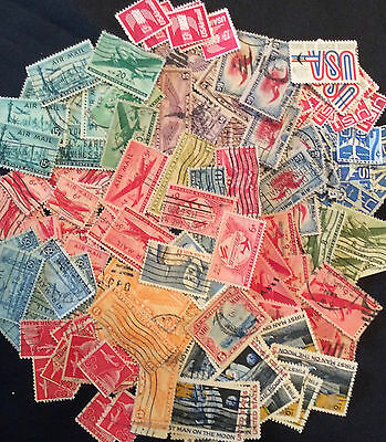 US Stamps Huge Lot of Early BOB Airmail Stamps Used K-18