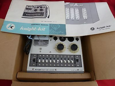 Knight Kit 400 Tube Checker Tester with assembly manual in box from Allied Radio
