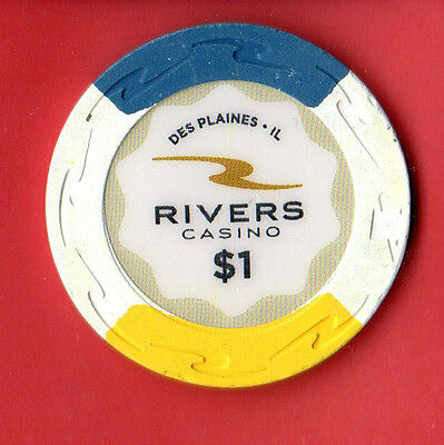 $1 Casino Chip, Rivers Casino, DesPlaines, IL (Chicago) EXC cond ONLY $0.85 POST