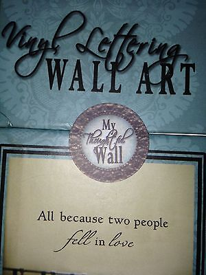 """Vinyl Lettering Wall Art """"All Because Two People Fell In Love""""  BN"""
