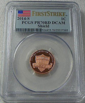 2014-S Proof Lincoln Cent Penny  PCGS PR70RD DCAM  * FIRST STRIKE*