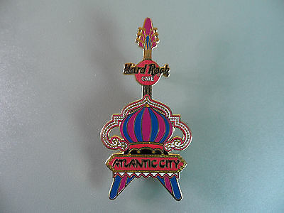 Hard Rock Cafe Atlantic City - Red and Gold Atlantic City Guitar Pin
